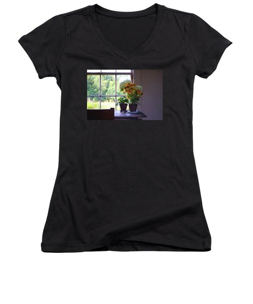 Olson House Flowers On Table Women's V-Neck (Athletic Fit)