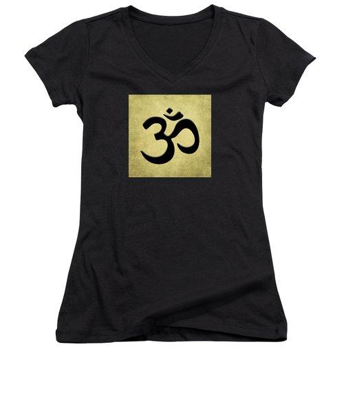 Om Gold Women's V-Neck T-Shirt