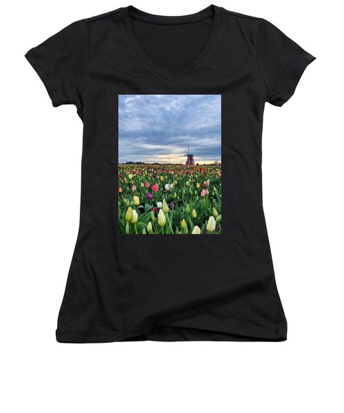 Ominous Spring Skies Women's V-Neck (Athletic Fit)