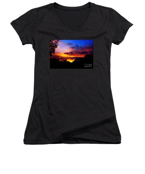 Ominous Sunset Women's V-Neck T-Shirt