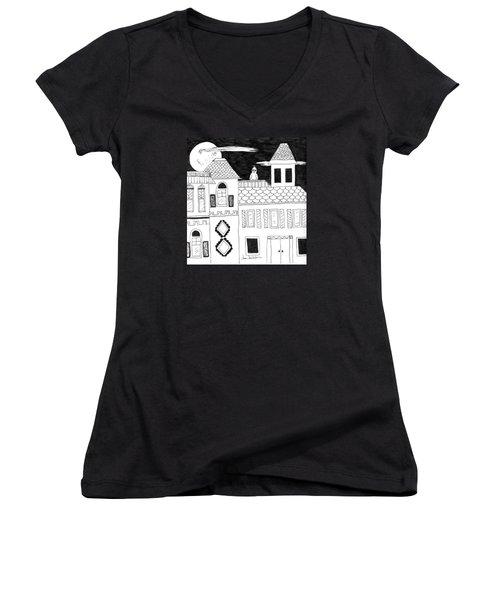 On Duty Women's V-Neck T-Shirt (Junior Cut) by Lou Belcher