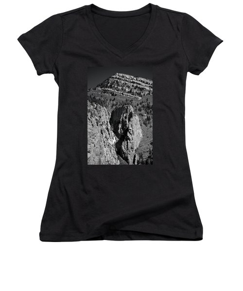 Women's V-Neck featuring the photograph On Sandia Mountain by Ron Cline