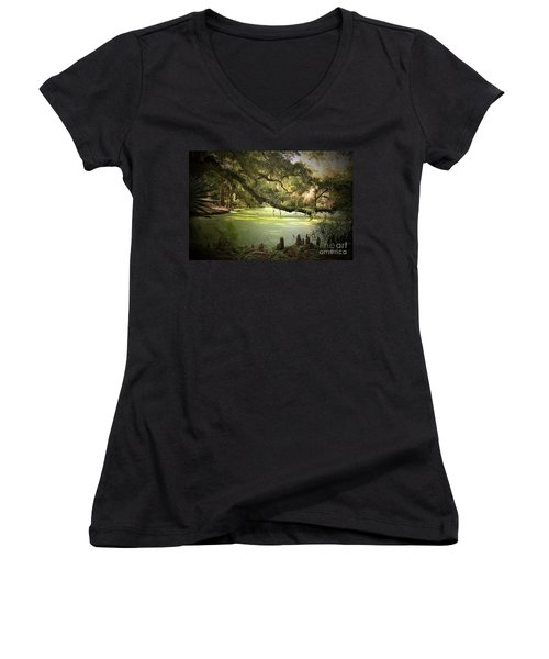 On Swamp's Edge Women's V-Neck (Athletic Fit)