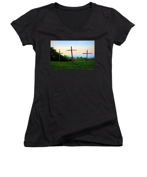 On The Hill Women's V-Neck (Athletic Fit)