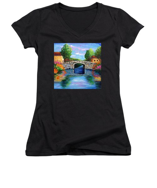On The Other Side Of The Bridge Women's V-Neck (Athletic Fit)