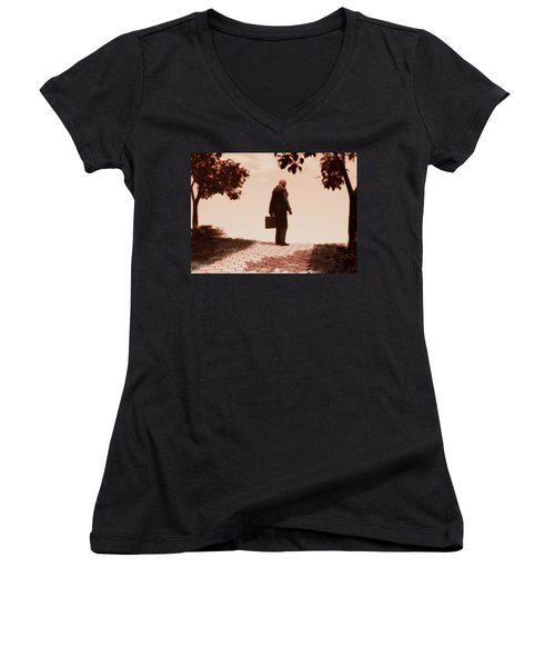 On The Path To Nowhere Women's V-Neck