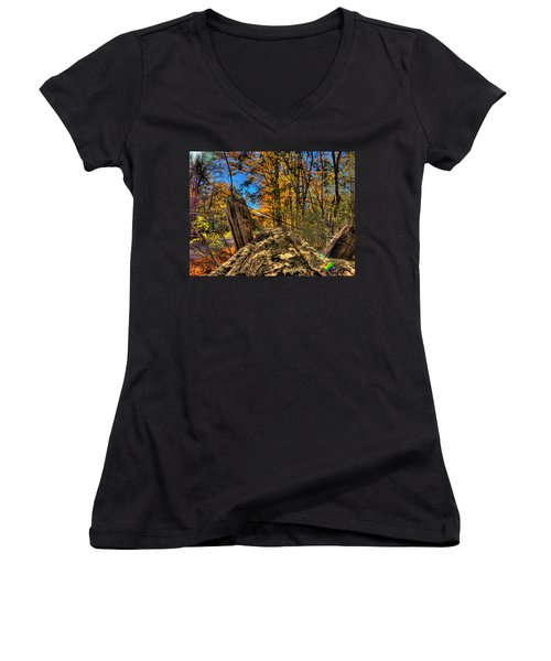 On The Rail Women's V-Neck T-Shirt