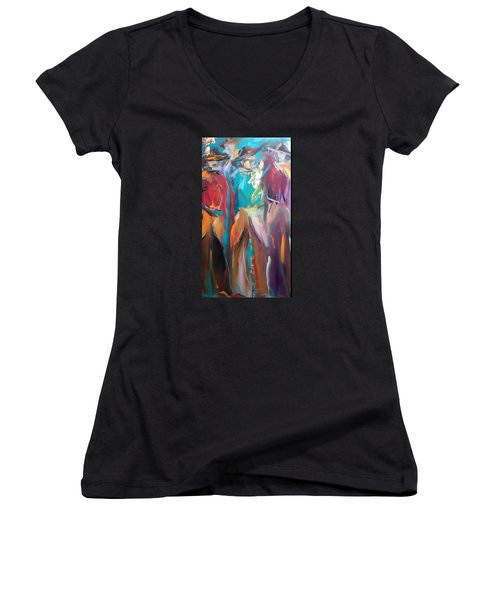 On The Ranch Women's V-Neck T-Shirt