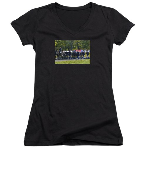 On Their Way To Rest Women's V-Neck T-Shirt (Junior Cut) by Paul W Faust -  Impressions of Light