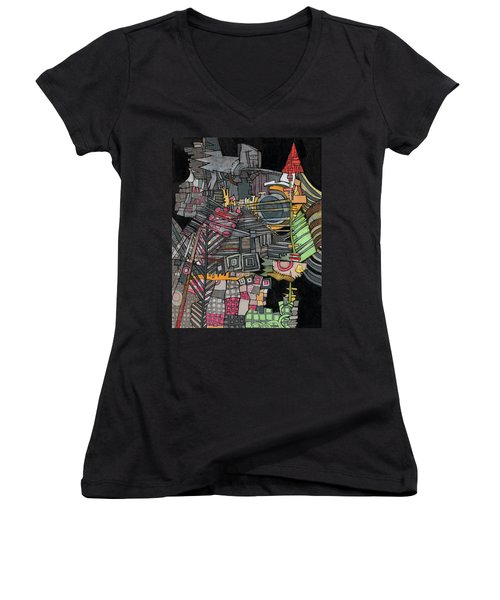 Once Upon A Time Women's V-Neck T-Shirt (Junior Cut) by Sandra Church