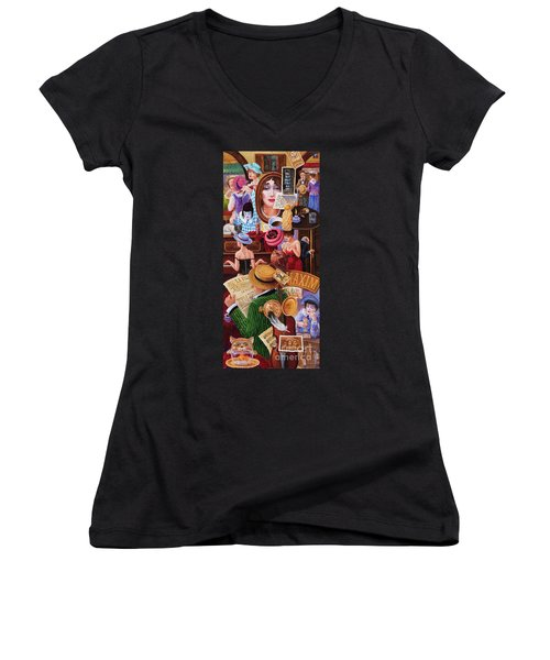 One Day In Paris Women's V-Neck