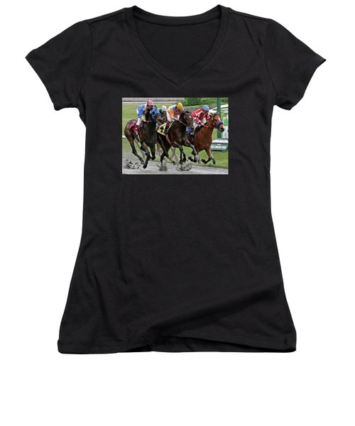 One Hoof Down Women's V-Neck (Athletic Fit)