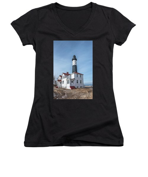 One Hundred Twelve Foot Lighthouse Tower Women's V-Neck (Athletic Fit)