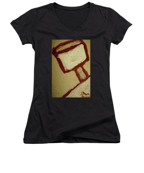One Lamp Women's V-Neck T-Shirt (Junior Cut) by Shea Holliman
