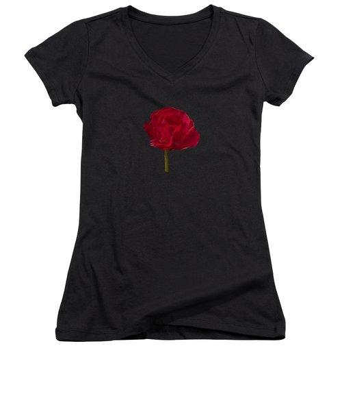 One Red Flower Tee Shirt Women's V-Neck T-Shirt
