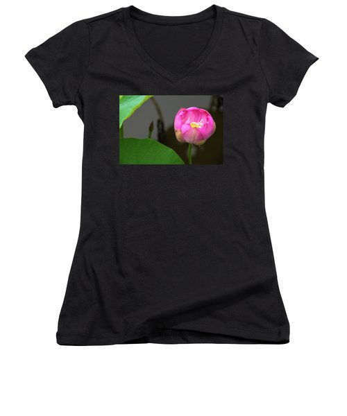Opening Lotus Lily Women's V-Neck