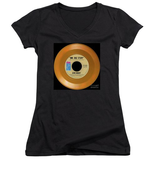 Women's V-Neck T-Shirt (Junior Cut) featuring the photograph Orange 45 by Martin Konopacki