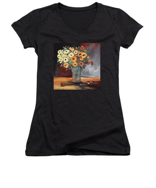 Orange Blossoms Women's V-Neck T-Shirt