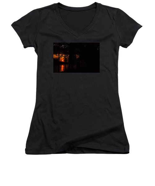 Orange Sunset Women's V-Neck
