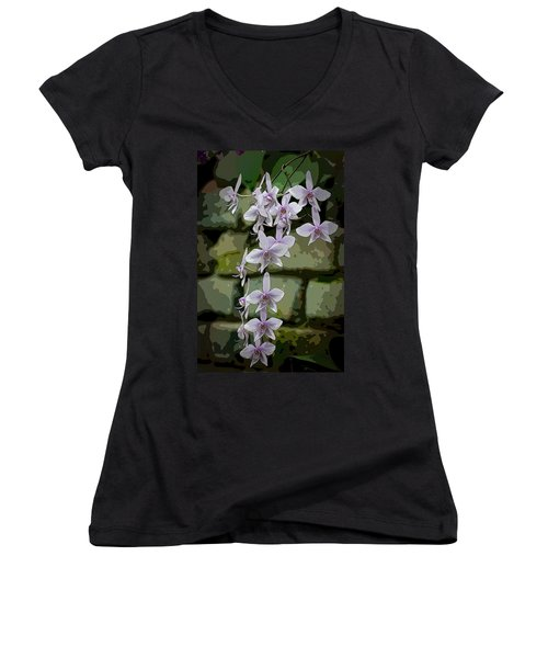 Orchid Waterfall Women's V-Neck