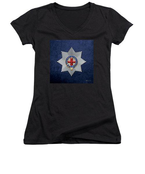 Order Of The Garter Star On Blue  Women's V-Neck (Athletic Fit)