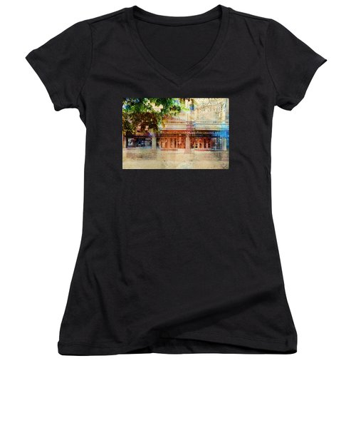 Ordway Center Women's V-Neck T-Shirt (Junior Cut) by Susan Stone