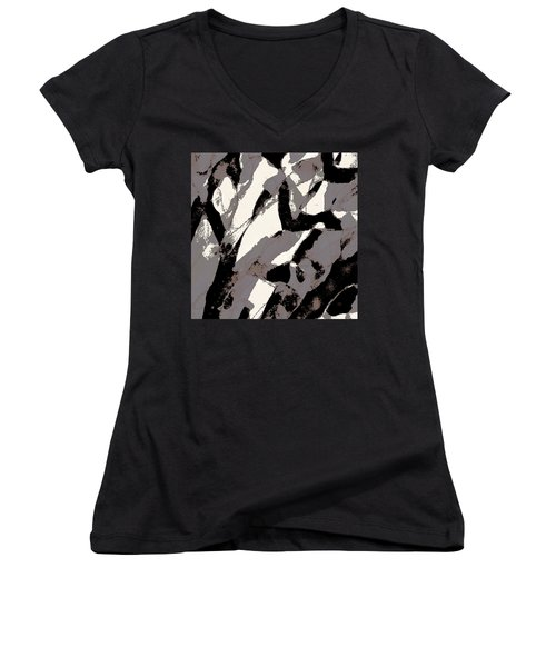 Organic No 2 Abstract Women's V-Neck (Athletic Fit)