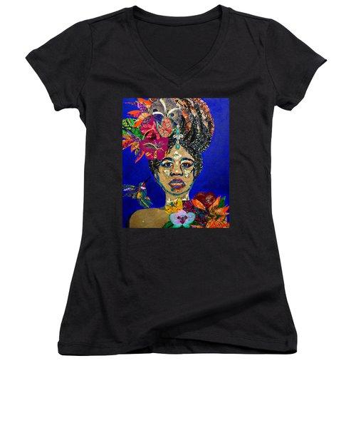 Oshun Blooming Women's V-Neck