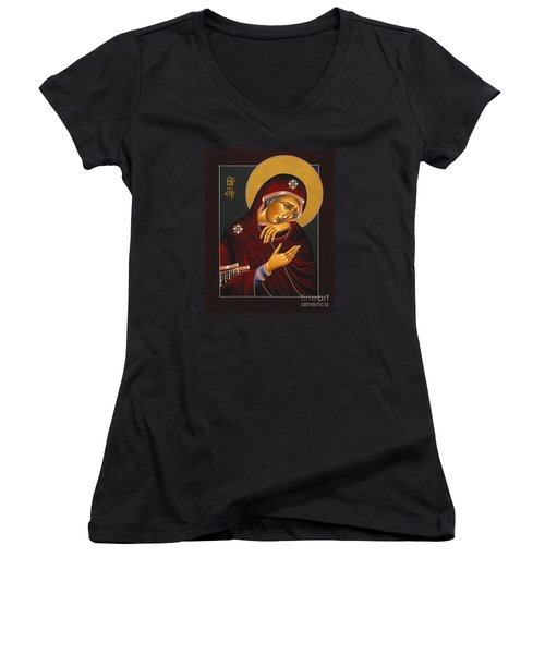 Our Lady Of Sorrows 028 Women's V-Neck T-Shirt (Junior Cut) by William Hart McNichols