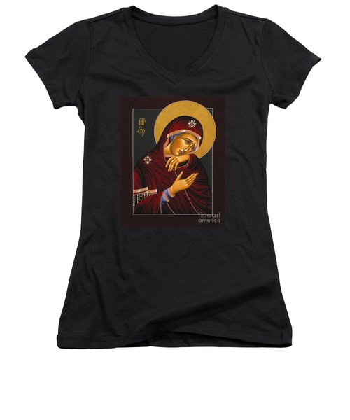 Our Lady Of Sorrows 028 Women's V-Neck