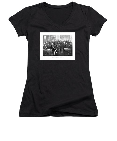 Our Presidents 1789-1881 Women's V-Neck (Athletic Fit)