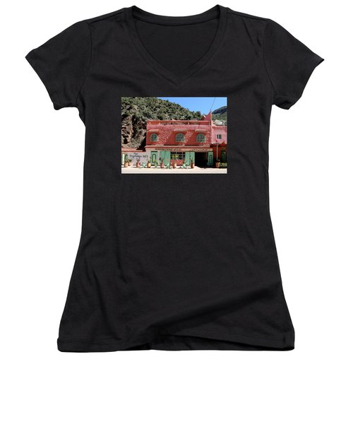 Women's V-Neck T-Shirt (Junior Cut) featuring the photograph Ourika Valley by Andrew Fare