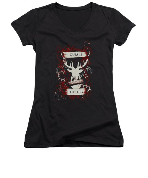 Ours Is The Fury Women's V-Neck