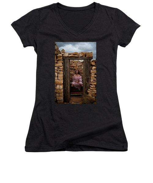 Outdoor Outhouse Women's V-Neck (Athletic Fit)