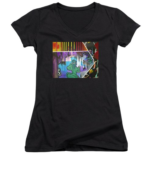 Outer Beings Women's V-Neck (Athletic Fit)