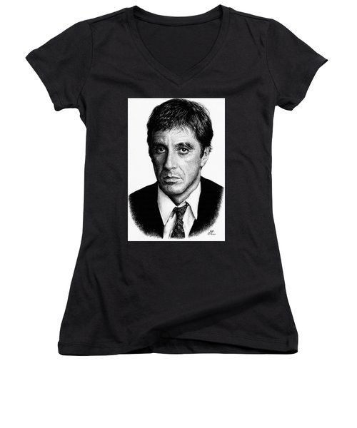 Pacino Scarface Women's V-Neck (Athletic Fit)