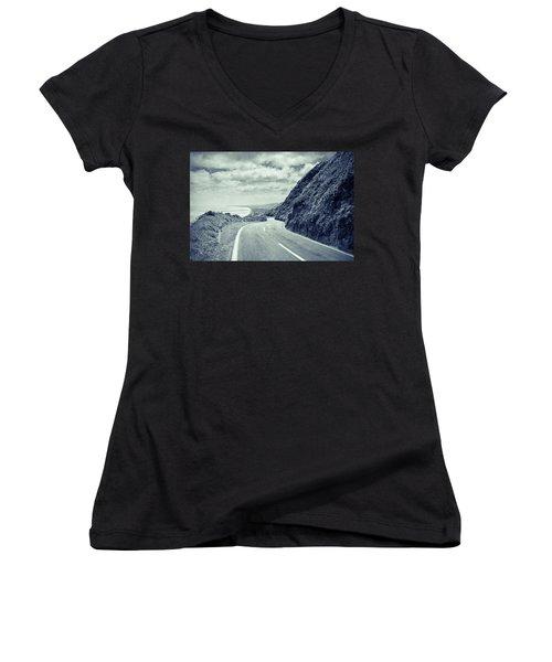 Paekakariki Women's V-Neck T-Shirt (Junior Cut) by Joseph Westrupp