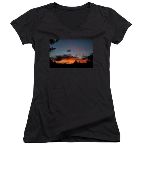 Pagosa Sunset 11-30-2014 Women's V-Neck