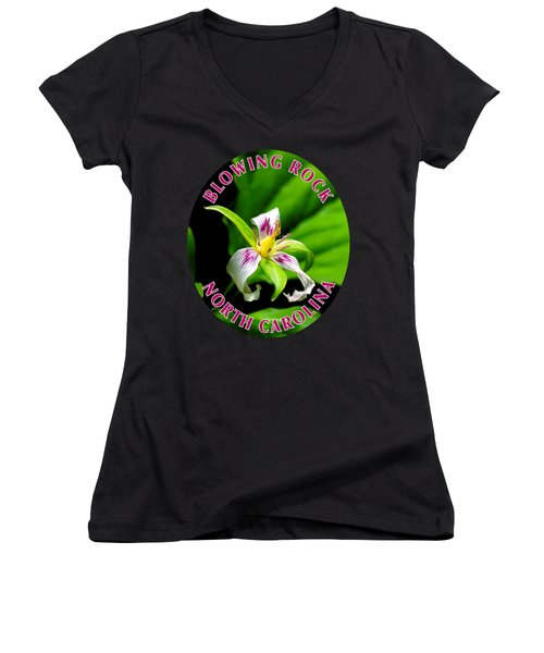 Painted Trillium T-shirt Women's V-Neck (Athletic Fit)