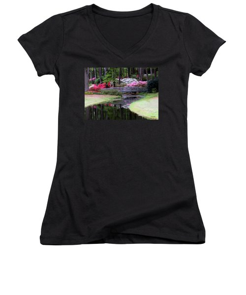 Painting At Calloway Women's V-Neck (Athletic Fit)