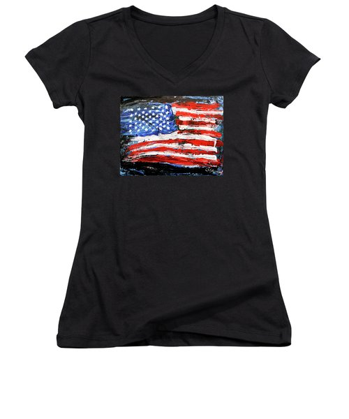 Palette Of Our Founding Principles Women's V-Neck (Athletic Fit)