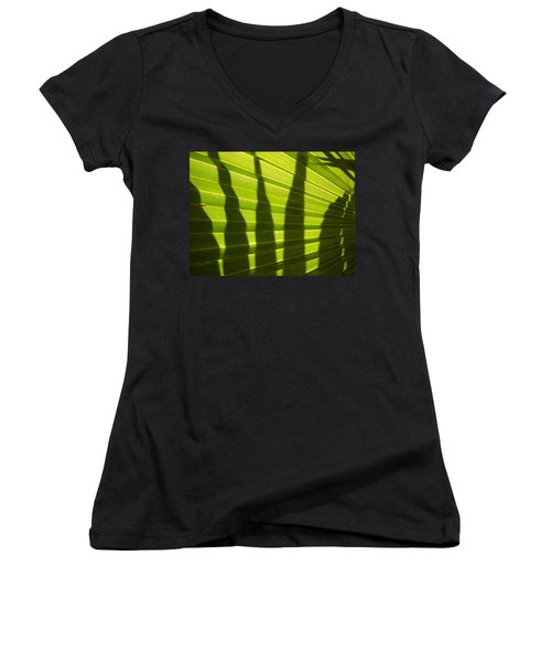 Women's V-Neck T-Shirt (Junior Cut) featuring the photograph Palmetto 4 by Renate Nadi Wesley