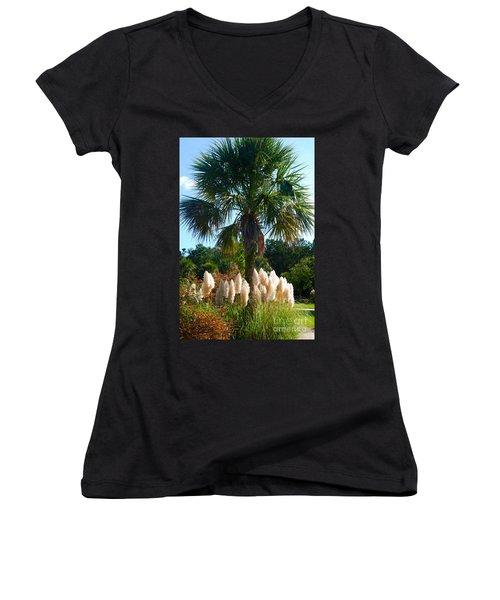 Palmetto Tree  Women's V-Neck