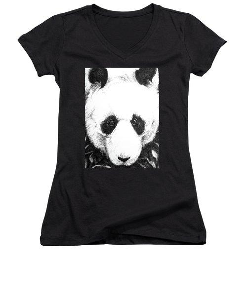 Panda Portrait Women's V-Neck