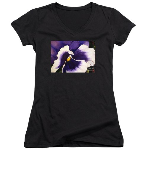 Pansy Face Women's V-Neck (Athletic Fit)