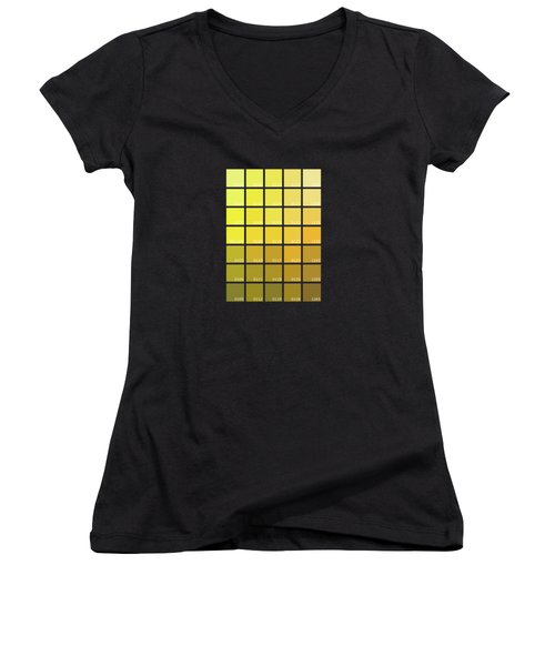 Pantone Shades Of Yellow Women's V-Neck (Athletic Fit)