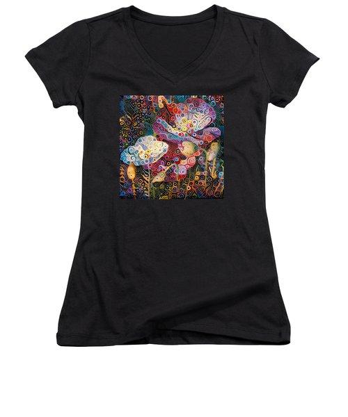 Paradise Flowers 07 Women's V-Neck T-Shirt