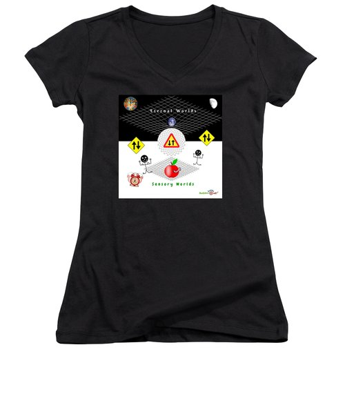 Parallel Worlds Women's V-Neck (Athletic Fit)