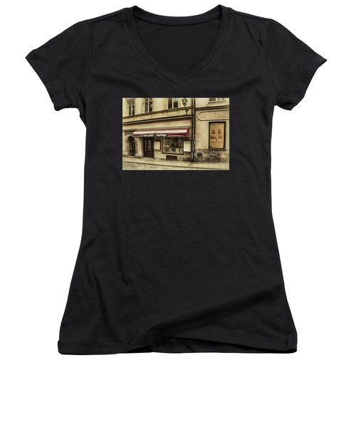 Parked By A Gallery Women's V-Neck