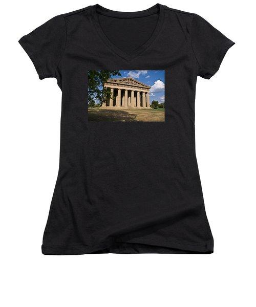 Parthenon Nashville Tennessee Women's V-Neck T-Shirt